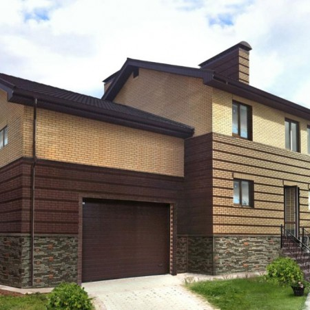 073-Дом из керамического кирпича, цвета Персик и Шоколад.jpg